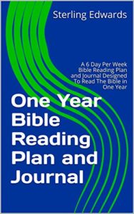 One Year Bible Reading Plan and Journal